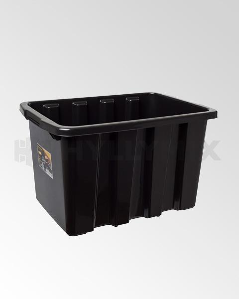 Strong 55L säilytyslaatikko musta