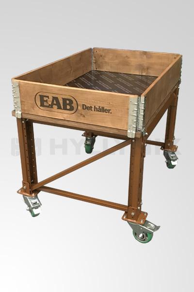 Käytetty työpöytä/ lavavaunu 1200x800mm