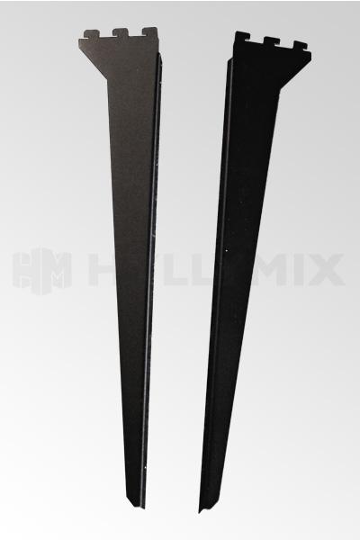 Konsol för trähylla 500mm, 1 par, svart